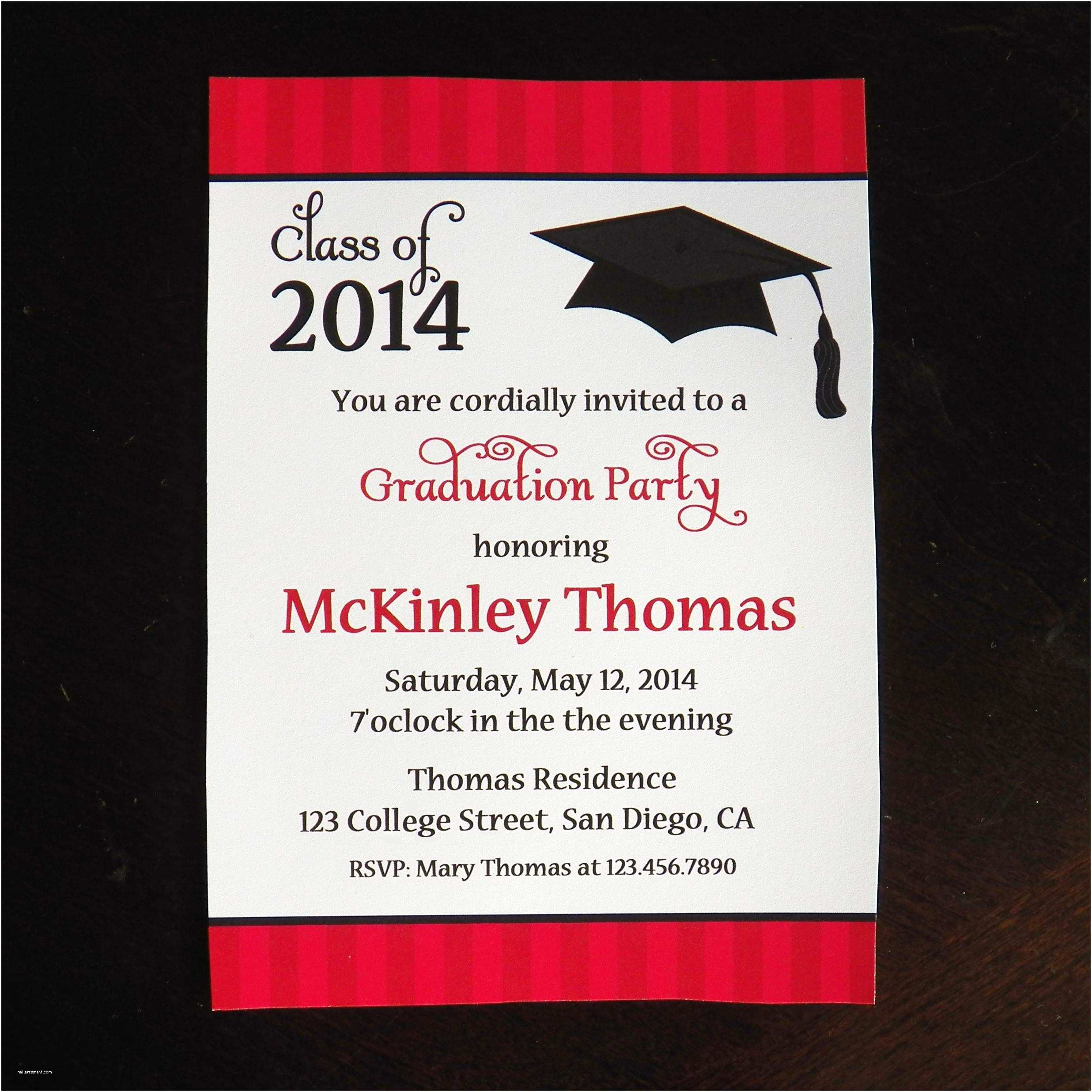 Sample Graduation Party Invitation College Graduation Party Invitations