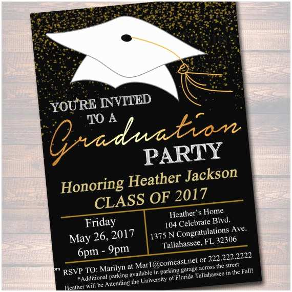 Sample Graduation Party Invitation Editable Graduation Party Invitation High School Graduation