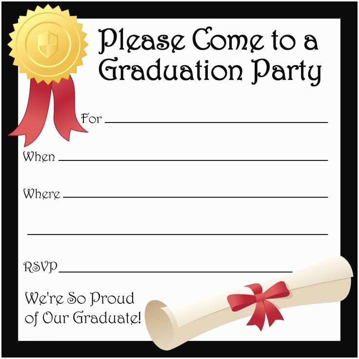 Sample Graduation Party Invitation Free Printable Graduation Party Invitations
