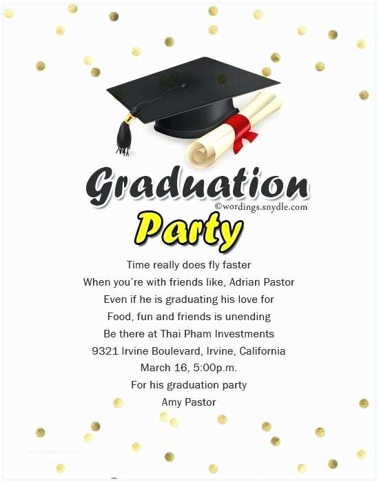 Sample Graduation Party Invitation Graduation Invitation Wording Housewarming Invite Wording