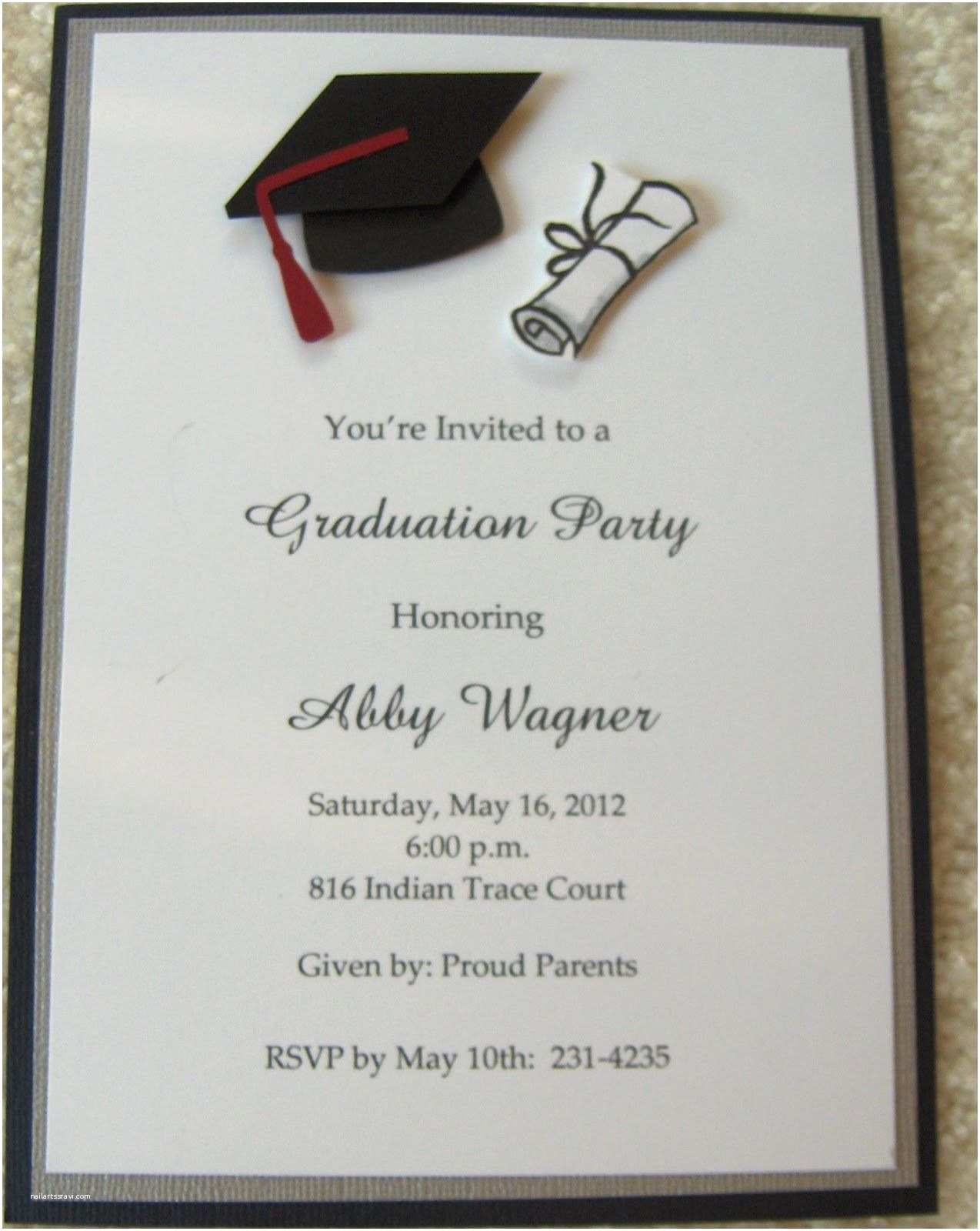 Sample Graduation Party Invitation Graduation Invitations Google Search