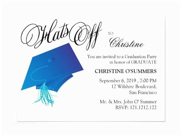 Sample Graduation Party Invitation Graduation Party Invitations 8 Design Template Sample