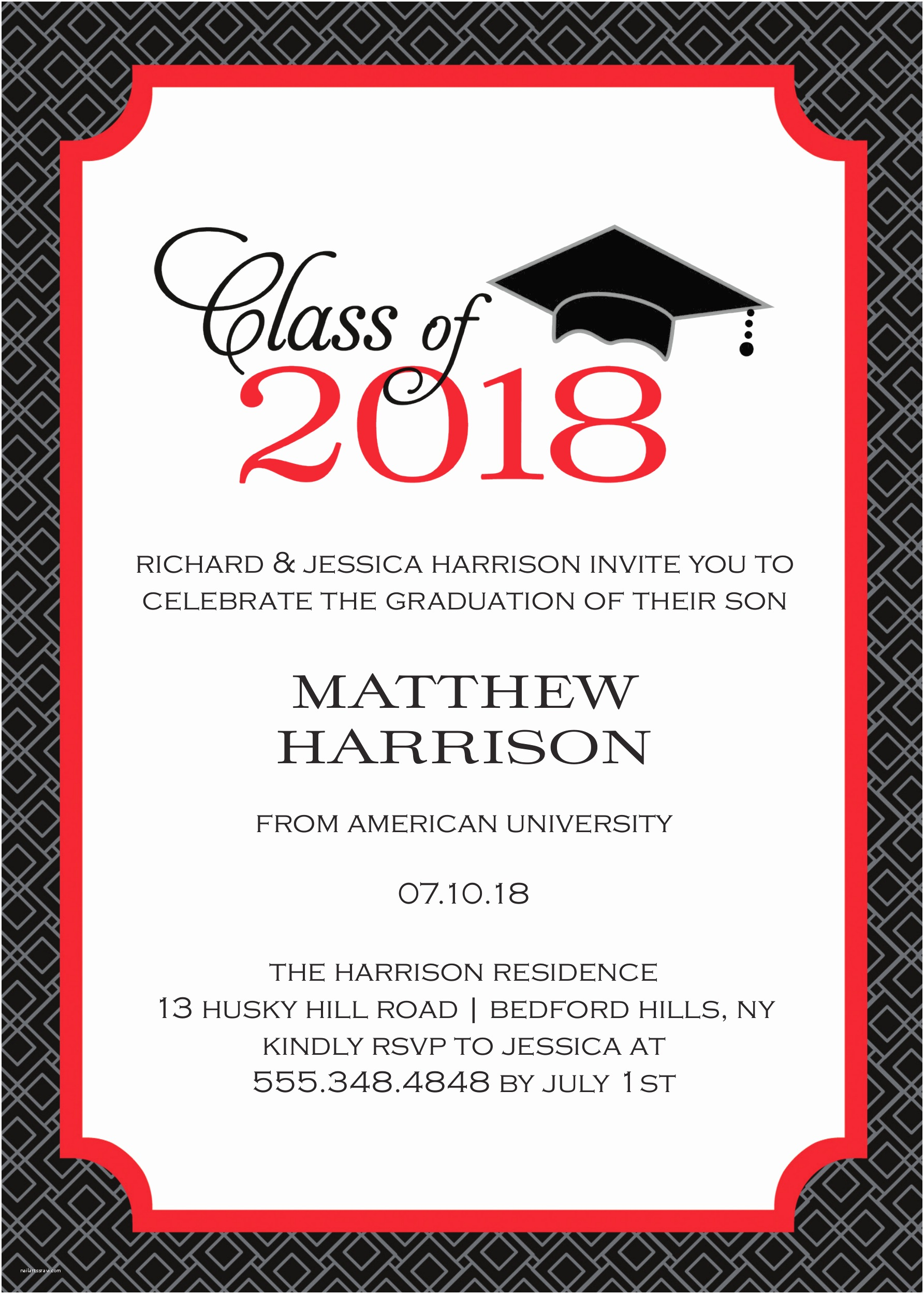 Sample Graduation Party Invitation Graduation Party Invitations High School or College