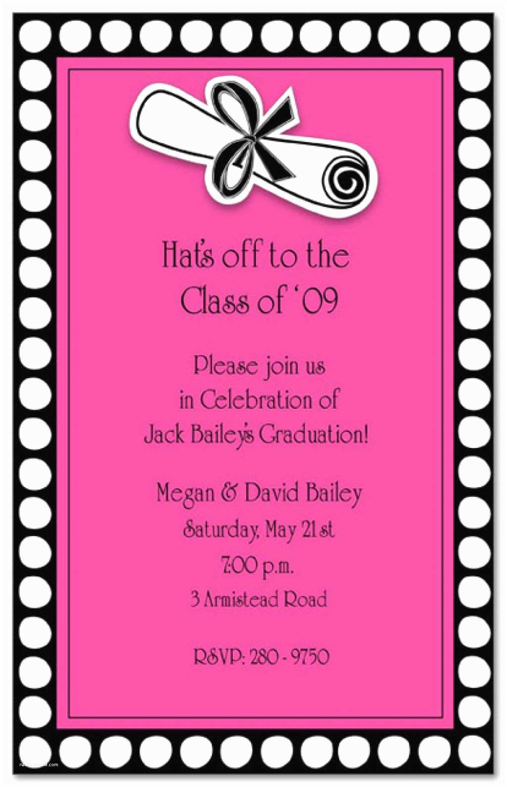 Sample Graduation Party Invitation Sample Wording for Graduation Party Invitations Abou and