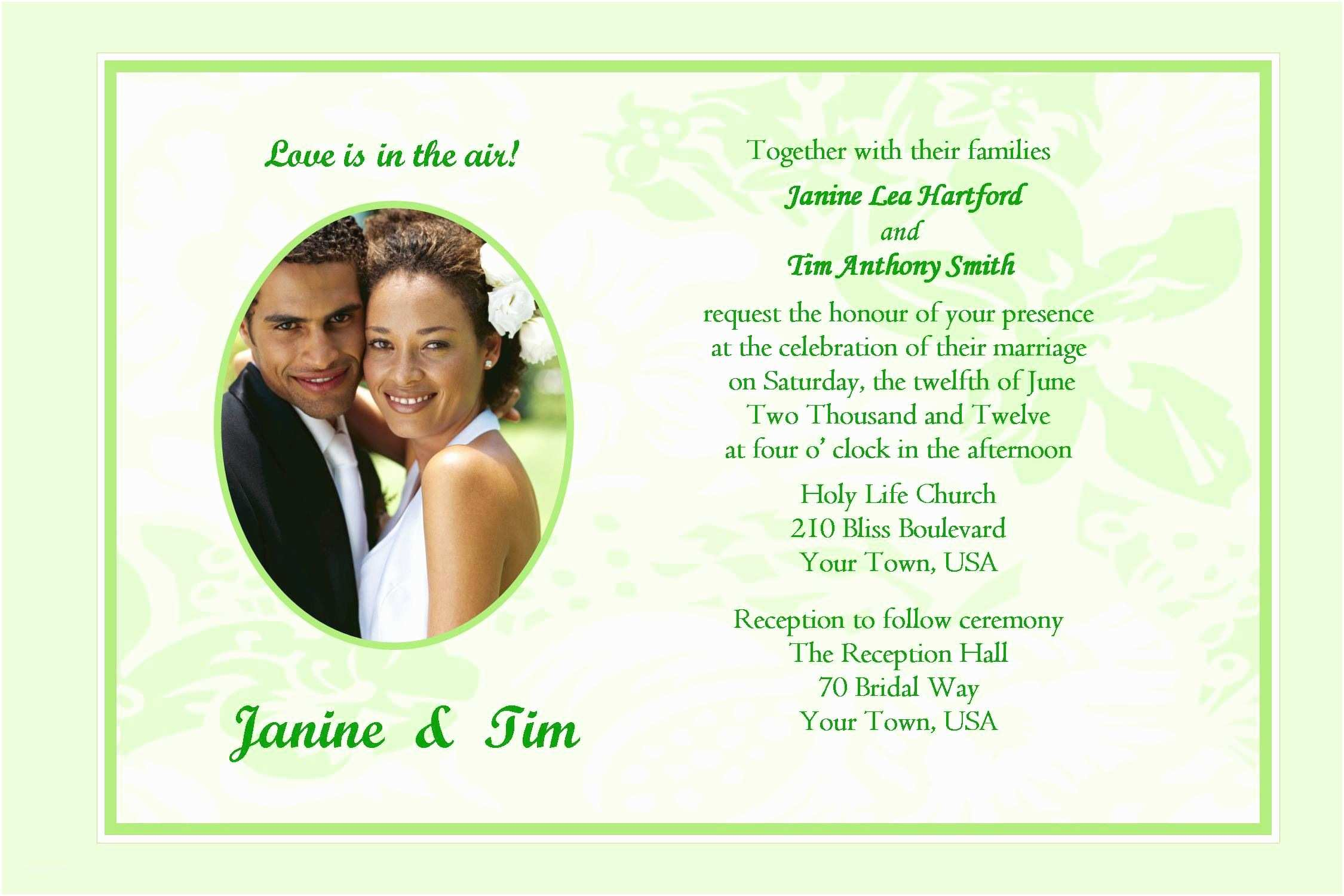 Sample Wedding Invitation Wording Wedding Invitation Sample Wedding Invitation Card New