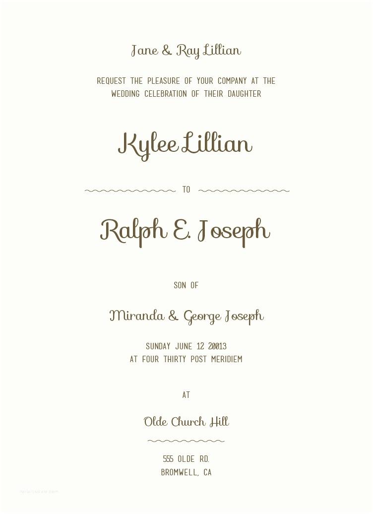Sample Wedding Invitation Wording Wedding Invitation Wording Samples Free Download Yaseen