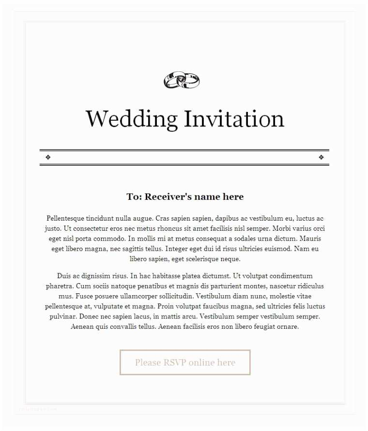 Sample Wedding Invitations Sample Wedding Invitation Letter to Colleagues Matik for