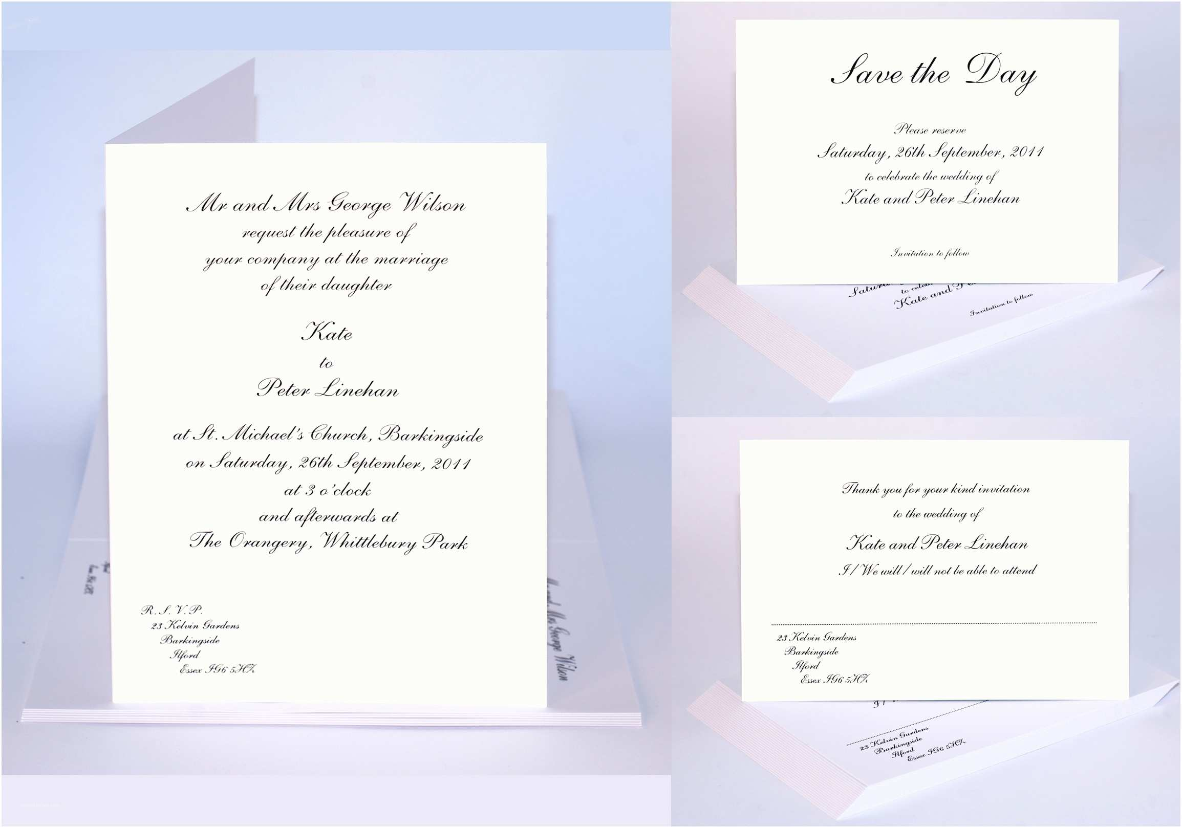Sample Wedding Invitations Traditional Wedding Invitation Sample