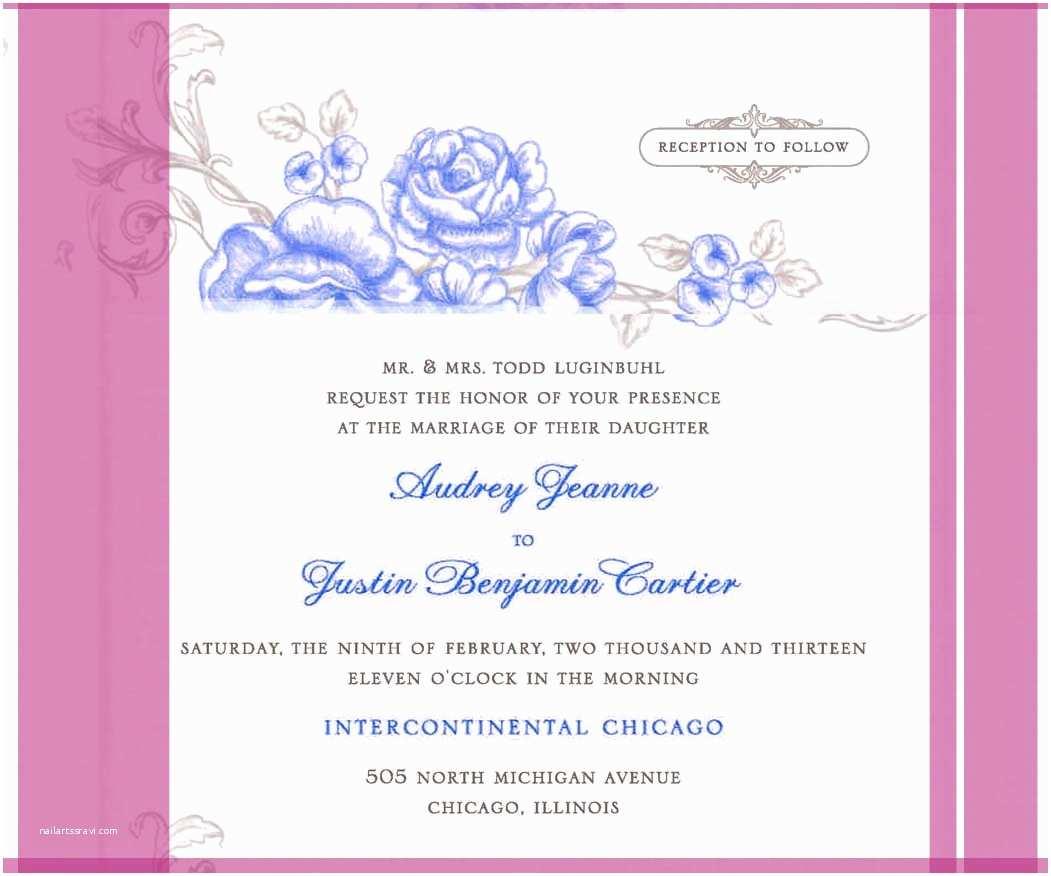 Samples Of Wedding Invitations Free Wedding Invitation Samples