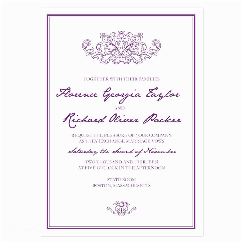 Samples Of Wedding Invitations Sample Invitation Templates