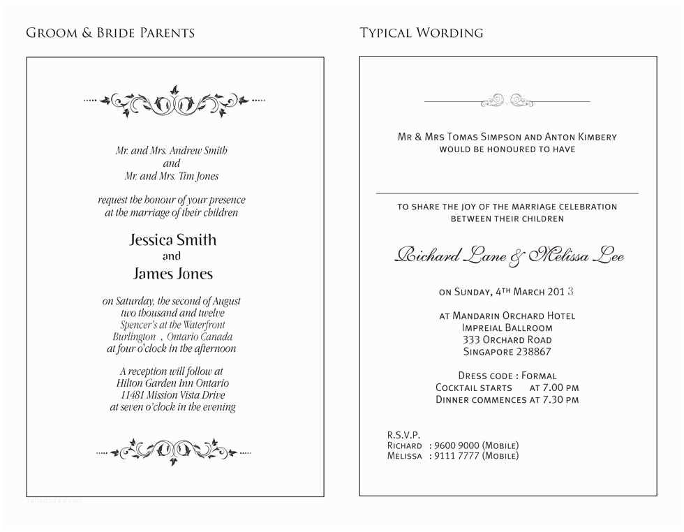 Samples Of Wedding Invitations Wedding Invitation Samples Wording