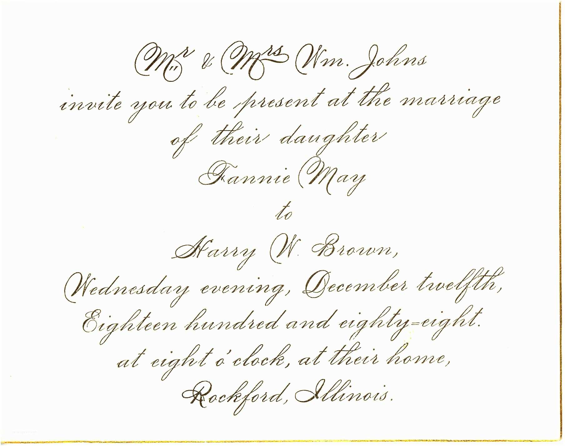 Samples Of Wedding Invitations Wedding Invitation Wording Marriage Anniversary