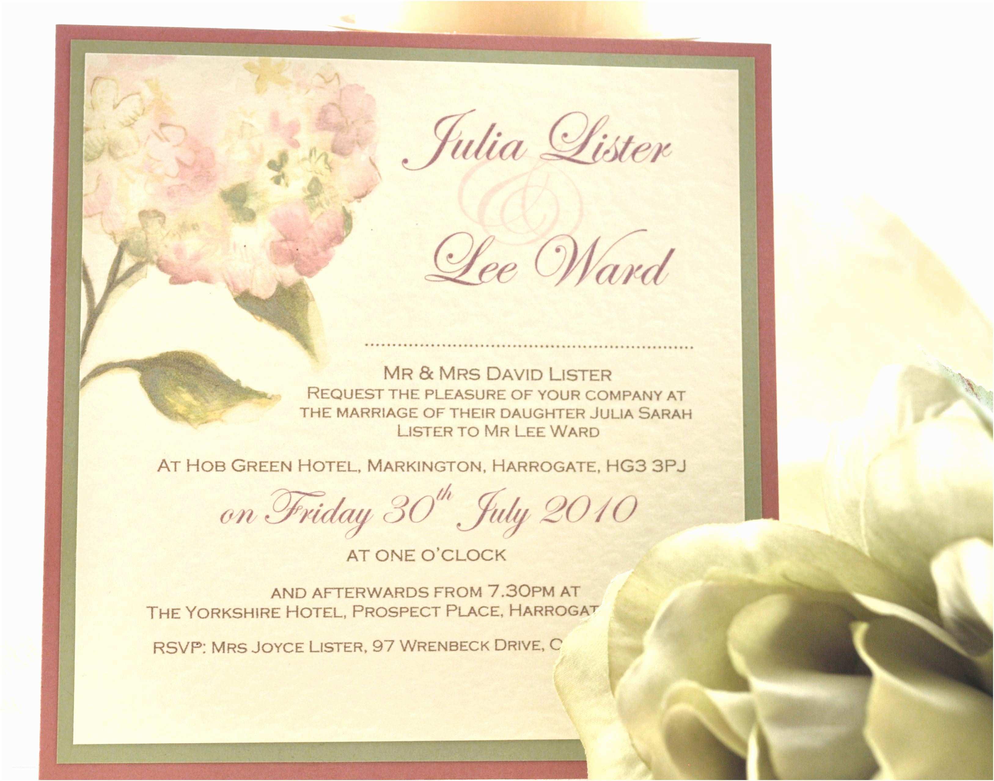 Samples Of Wedding Invitations Wedding Invitation Wording Wedding Invitation Template Sample