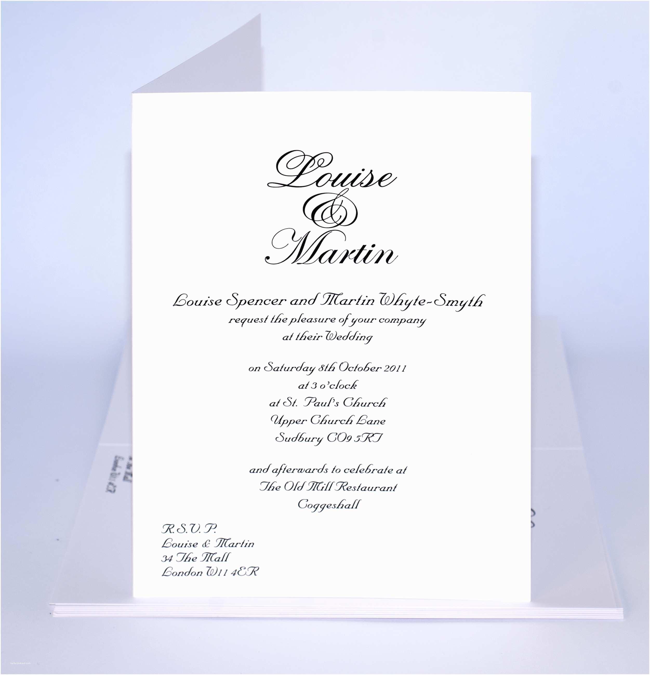 Samples Of Wedding Invitations Wedding Invitation Wording Wedding Invitation Templates