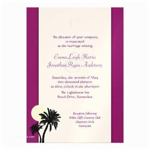 Sangria Color Wedding Invitations Moonlight Palms Sangria Wine Wedding Invitation