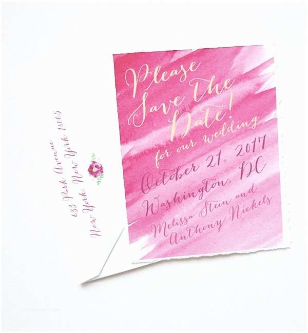 Sangria Color Wedding Invitations Sangria Watercolor Save the Dates