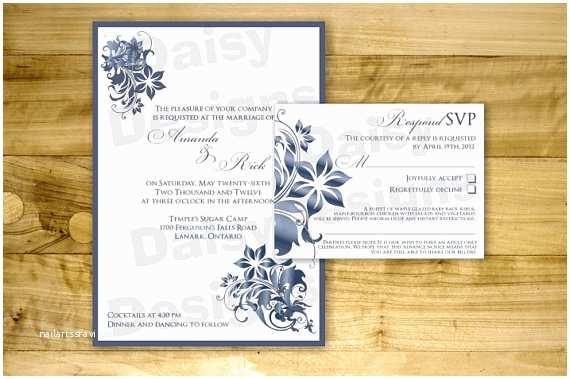 Sapphire Wedding Invitations Diy Burning Sapphire Wedding Invitation Templates
