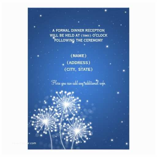 Sapphire Wedding Invitations Elegant Reception Summer Sparkle Sapphire Blue 5x7 Paper