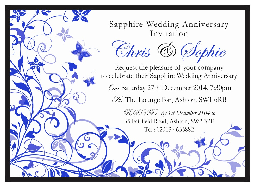 Sapphire Wedding Invitations Sapphire Wedding Invitations D&l Designs Ltd