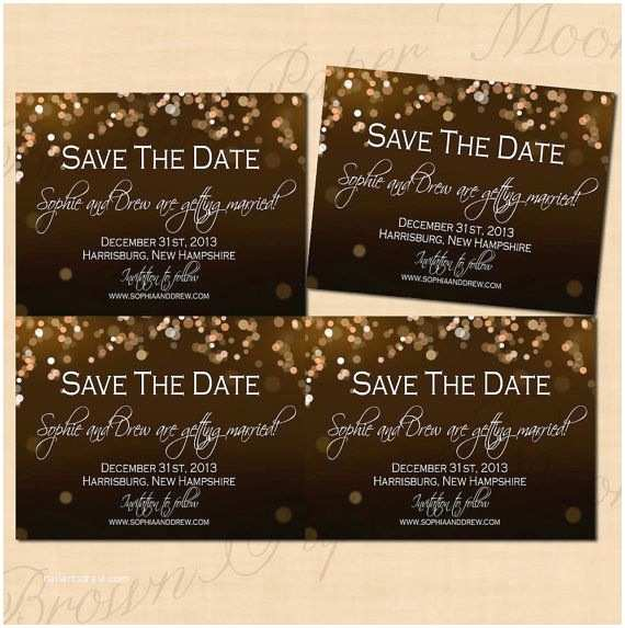Save the Date and Wedding Invitation Packages Champagne Bubbles Save the Date Invitation Rsvp and