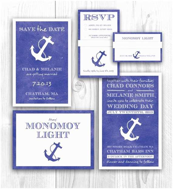 Save the Date and Wedding Invitation Packages Items Similar to Nautical Wedding Invitation and theme