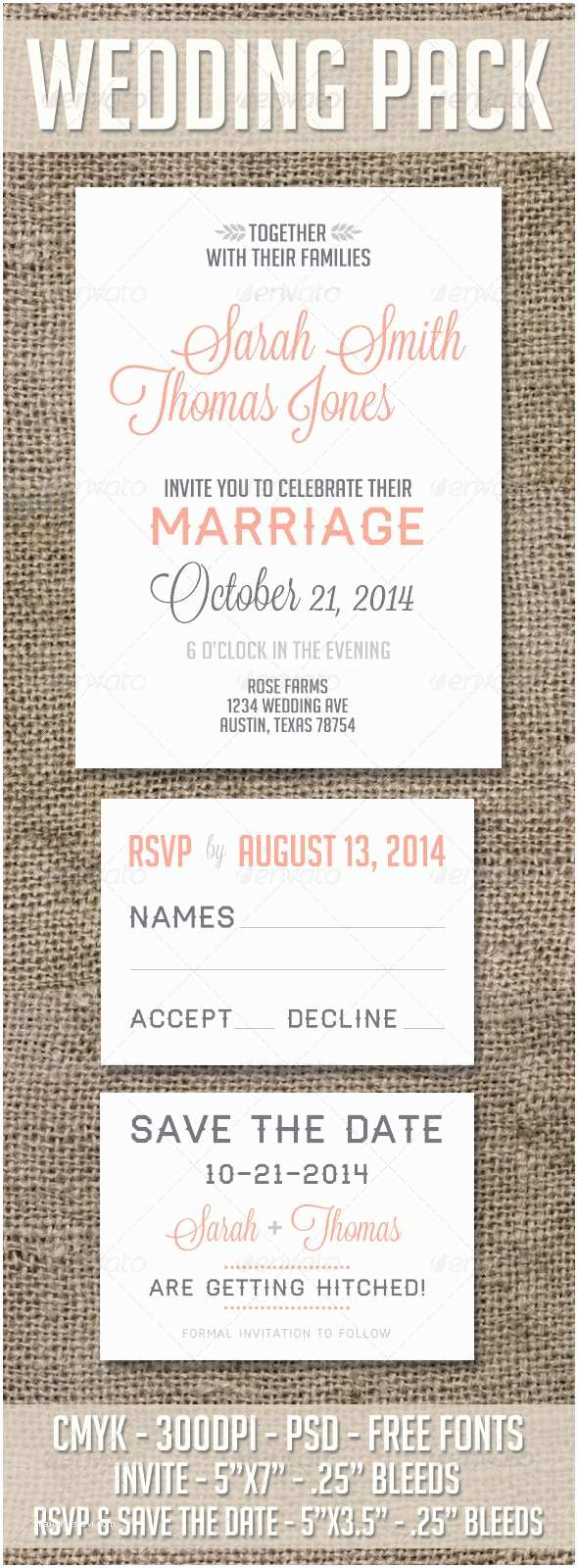 Save the Date and Wedding Invitation Packages Wedding and Save the Date Pack