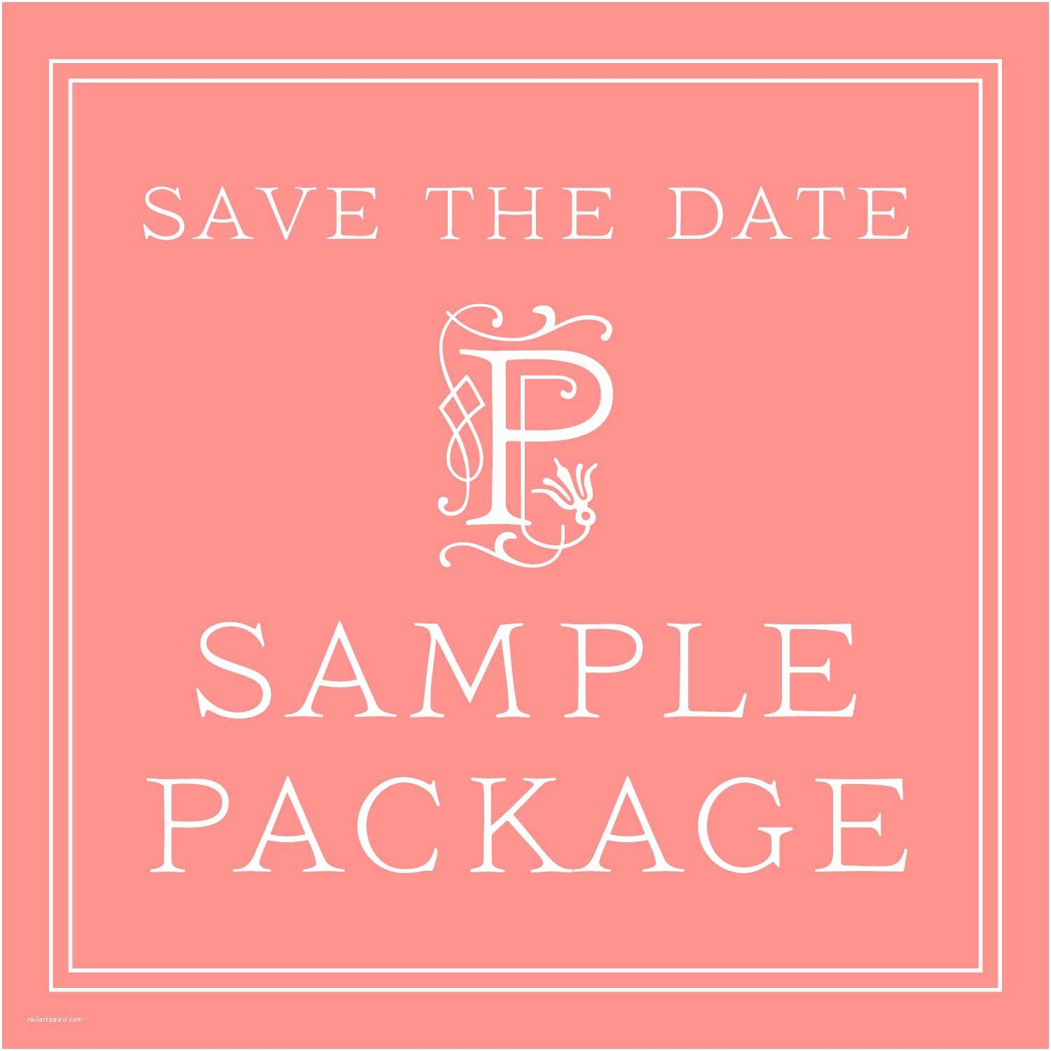 Save the Date and Wedding Invitation Packages Wedding Save the Date Sample Package – Classic Save the