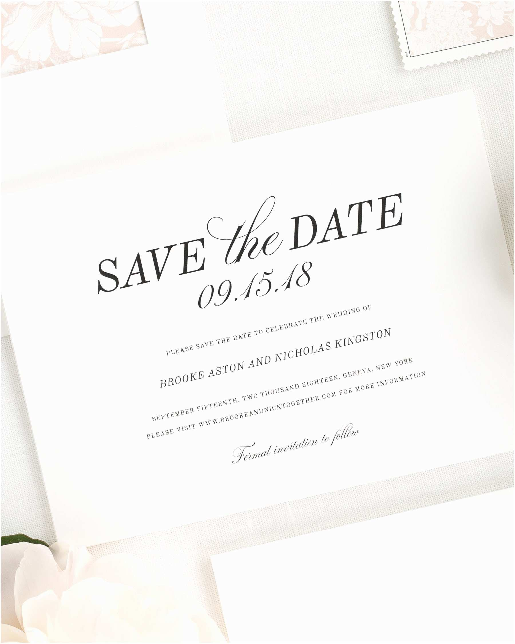 Save the Date Wedding Invitations Classic Romance Save the Date Cards Save the Date Cards