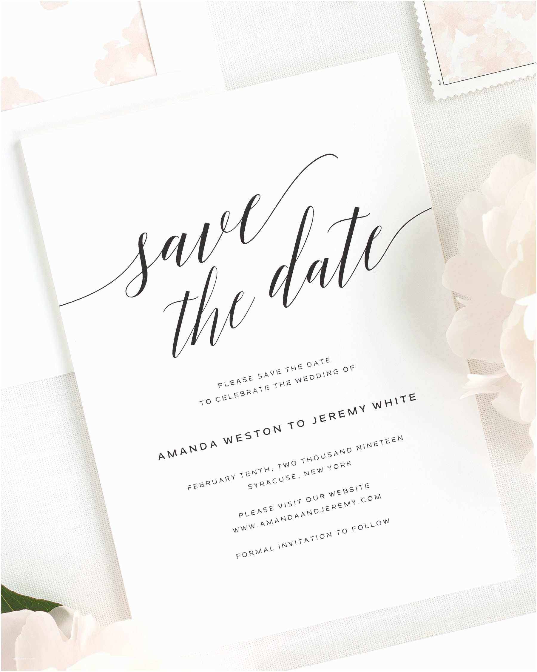 Save the Date Wedding Invitations Daring Romance Save the Date Cards Save the Date Cards