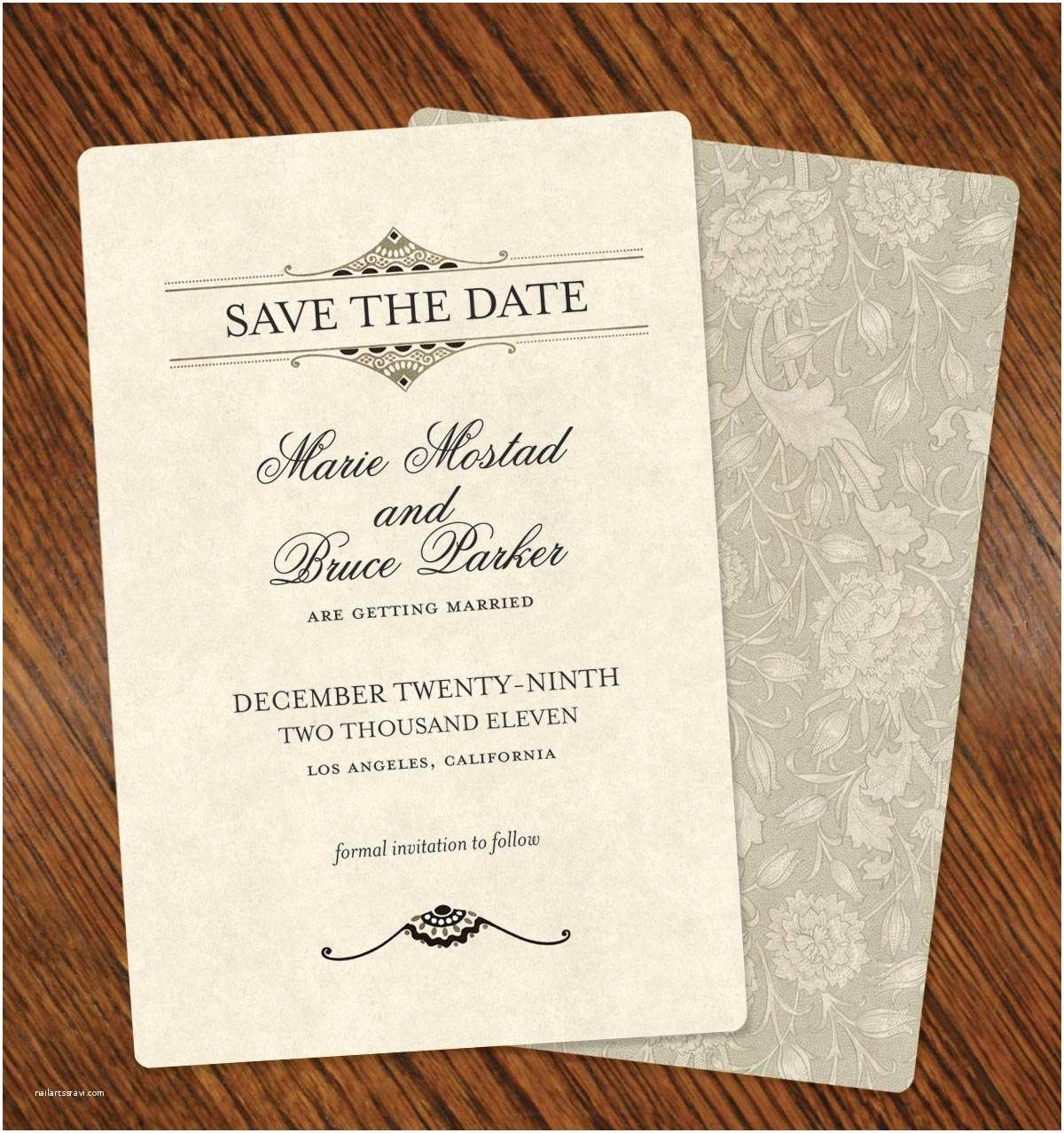 Save the Date Wedding Invitations Nice Floral Card Background Decorations Printable
