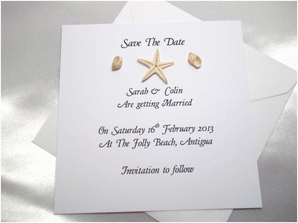 Save the Date Wedding Invitations Personalised Save the Date Cards Wedding Invitations Beach