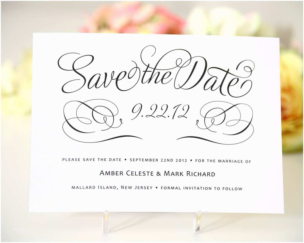 Save the Date Wedding Invitations Save the Date Cards Templates for Weddings