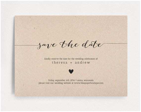 Save the Date Wedding Invitations Save the Date Invitation Wedding Rehearsal Editable