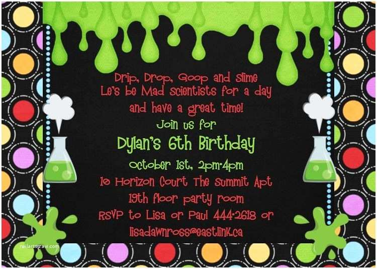 Science Party Invitations Image Detail for Kids Birthday Invitations Boy themed