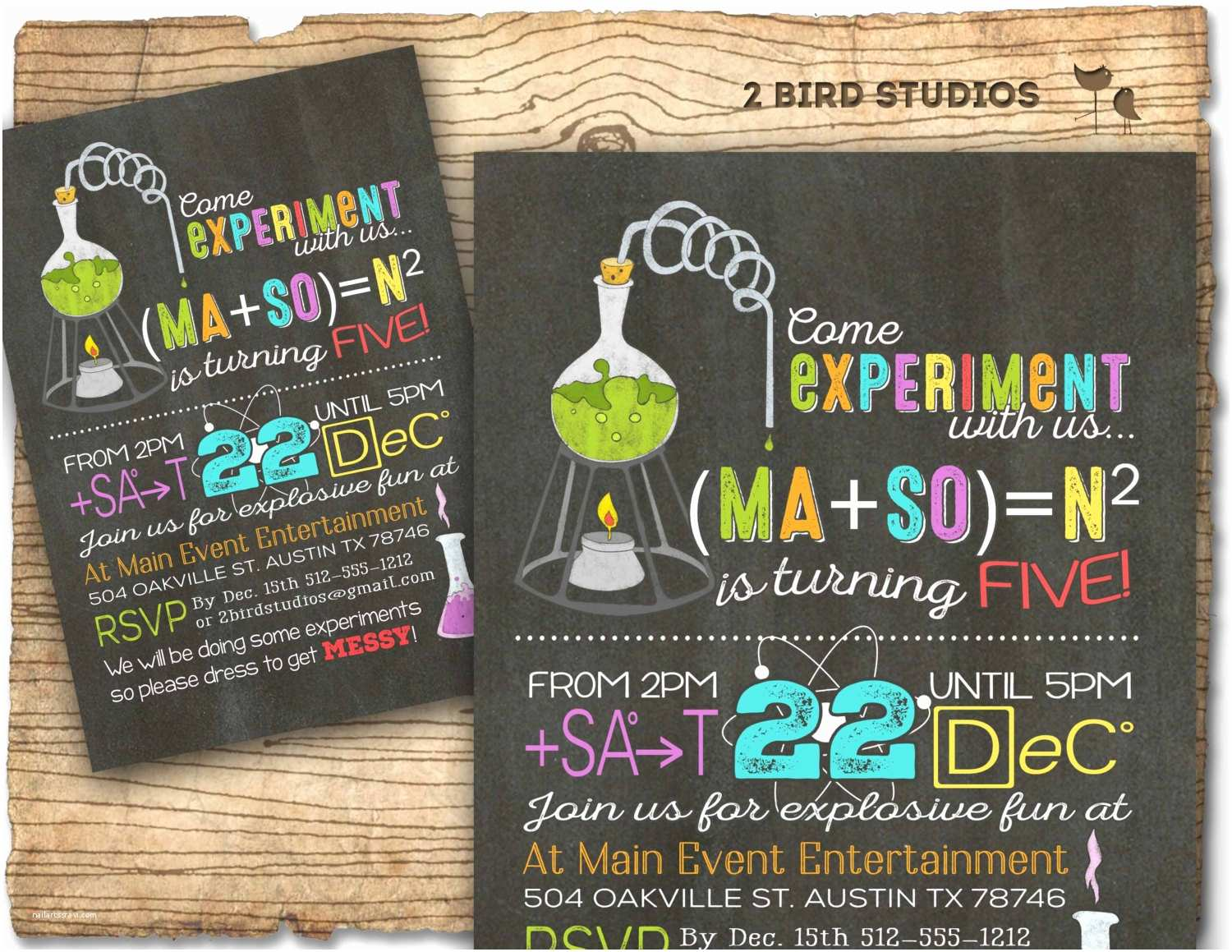 Science Party Invitations Science Birthday Party Invitation Science Birthday