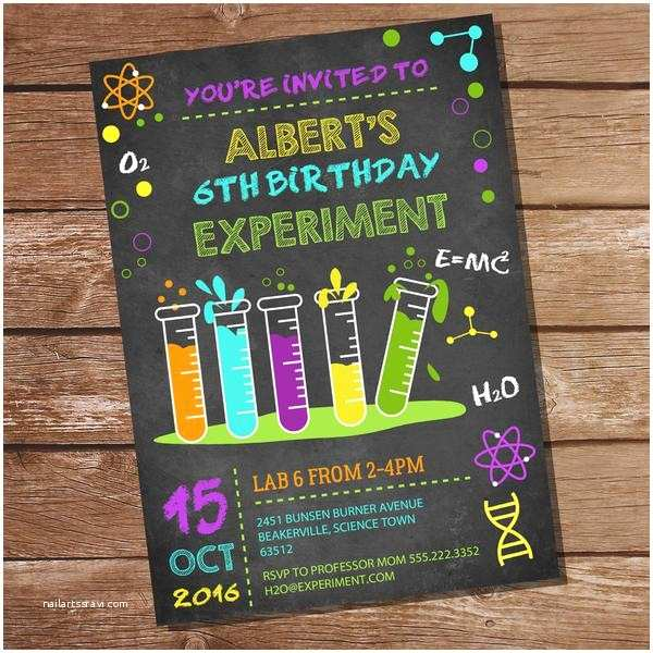Science Party Invitations Science Experiment Party Decorations Set