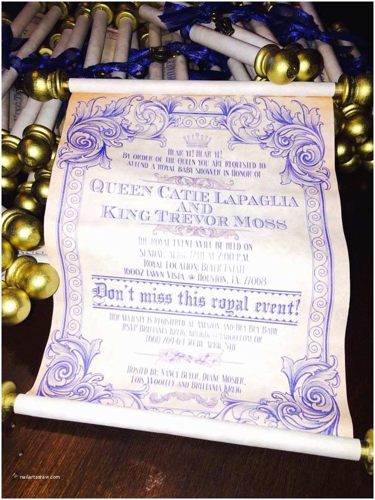 Scroll Baby Shower Invitations 1000 Images About Royal Baby Shower On Pinterest