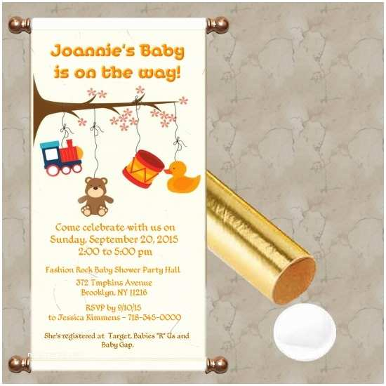 Scroll Baby Shower Invitations Baby Shower Scroll Invitations