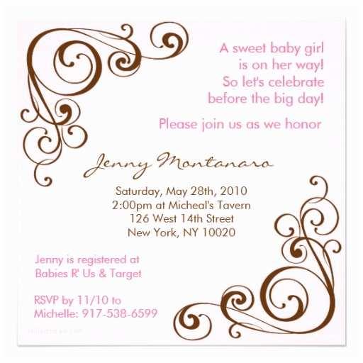 Scroll Baby Shower Invitations Elegant Scroll Swirl Baby Shower Invitations 13 Cm X 13 Cm