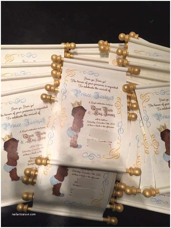 Scroll Baby Shower Invitations Scroll Baby Shower Invitations