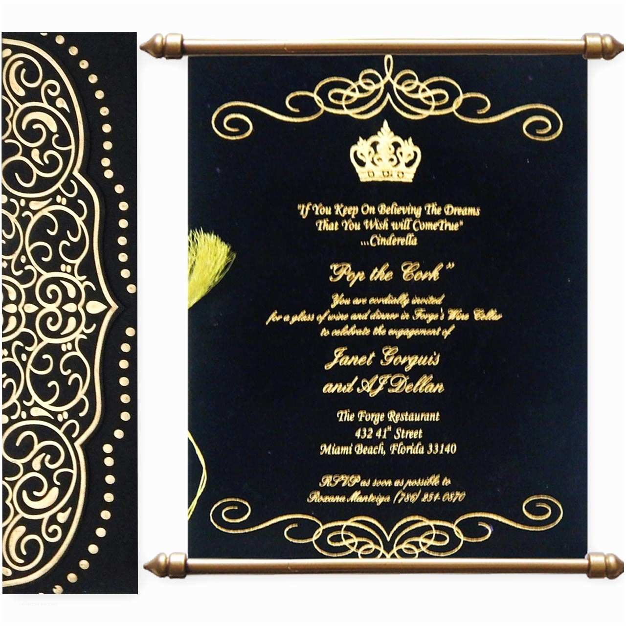 Scroll Wedding Invitations Variant Of Scroll Wedding Cards with Matte Finish Paper
