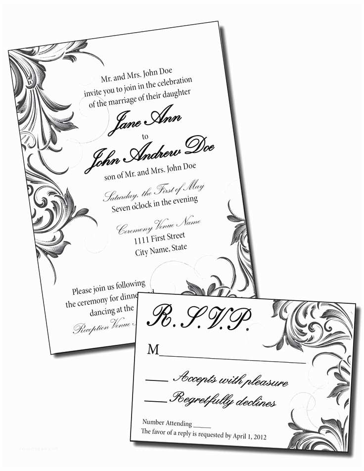 Scroll Wedding Invitations with Rsvp Cards 17 Best Images About Rsvp Invite Respond Cards On