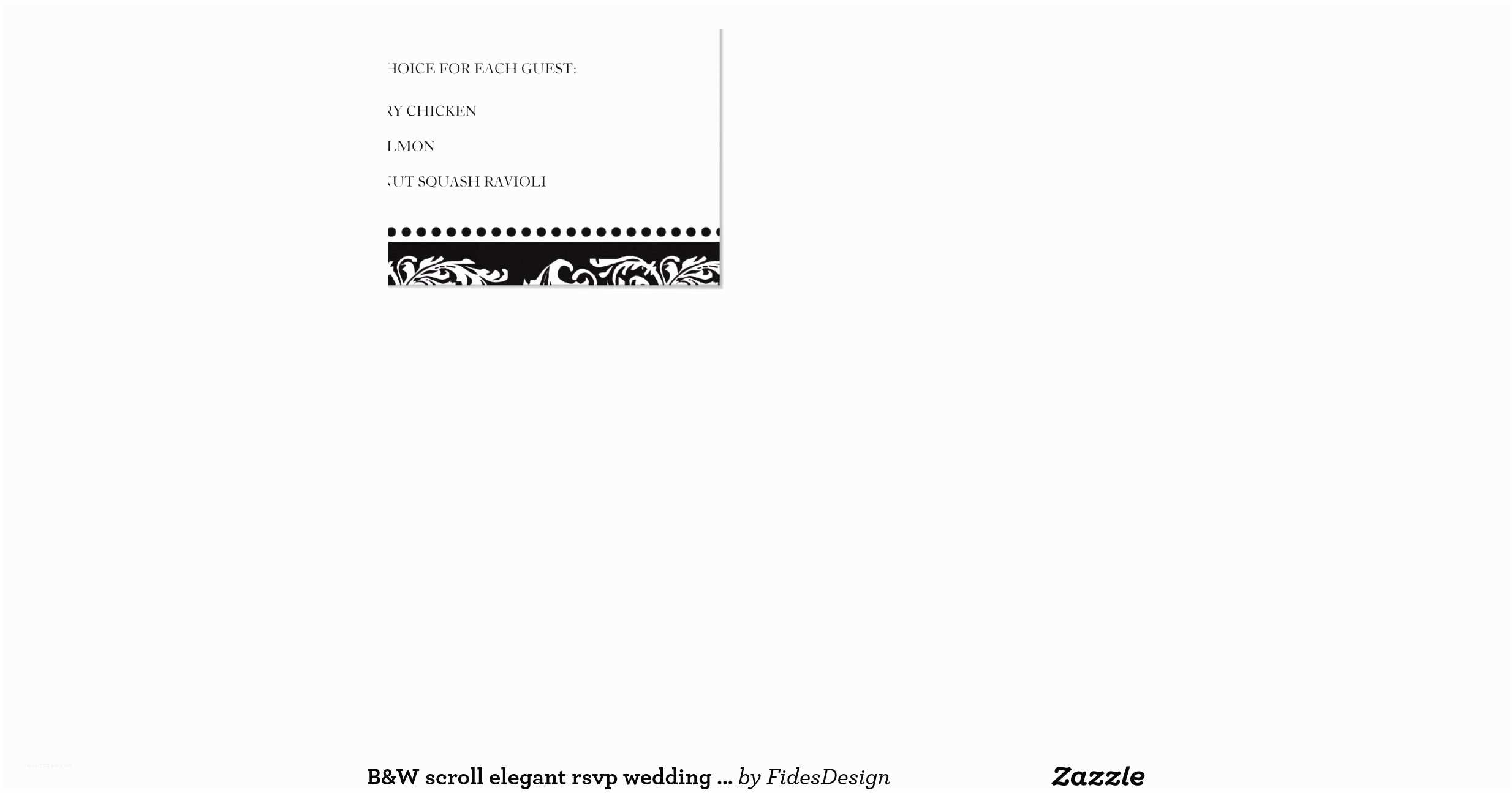 "Scroll Wedding Invitations with Rsvp Cards B&w Scroll Elegant Rsvp Wedding Response Card 4 25"" X 5 5"