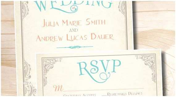 Scroll Wedding Invitations with Rsvp Cards Elegant Scroll Vintage Rustic Wedding Invitation and