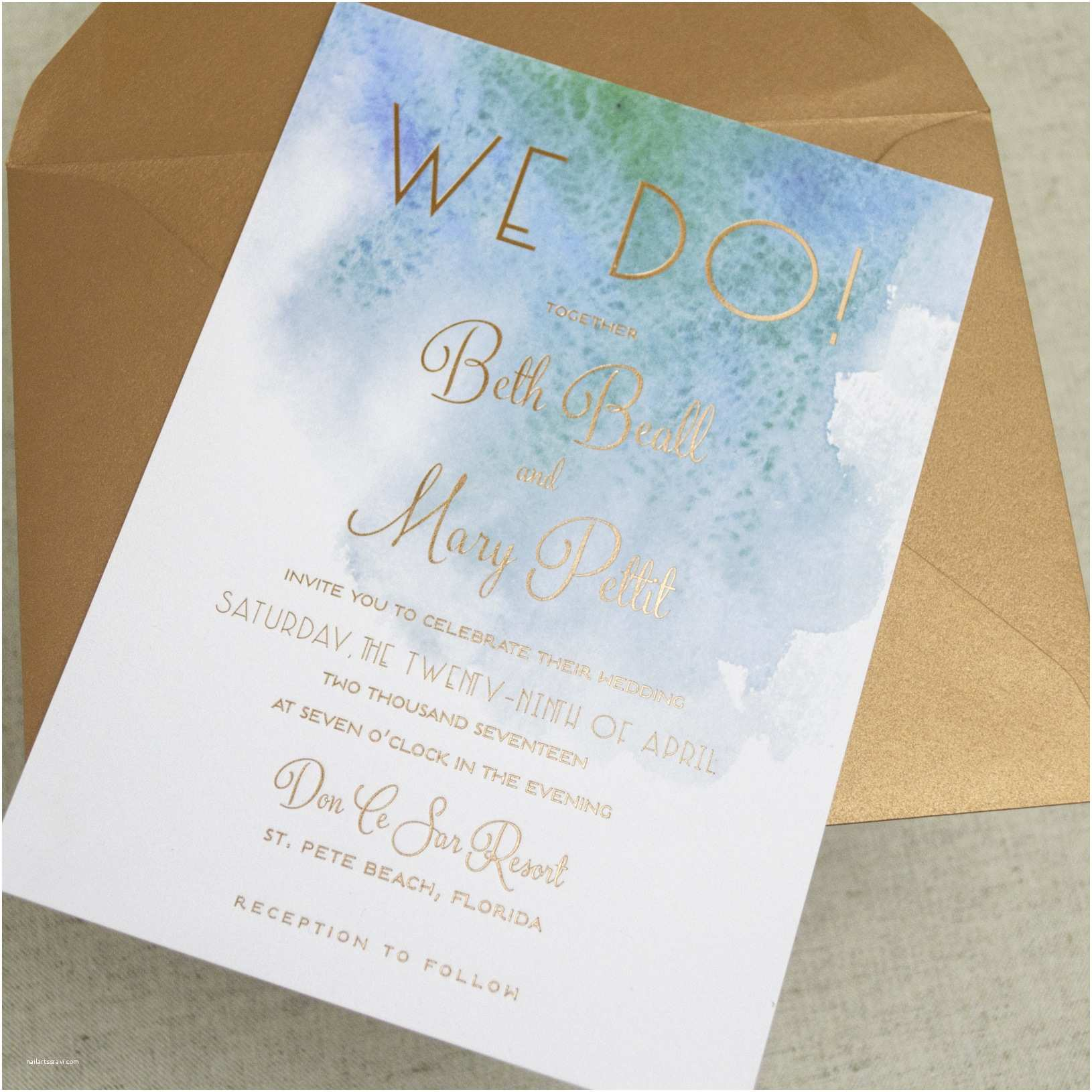 Sea themed Wedding Invitations Beautiful Ocean themed Wedding Invitations Styles