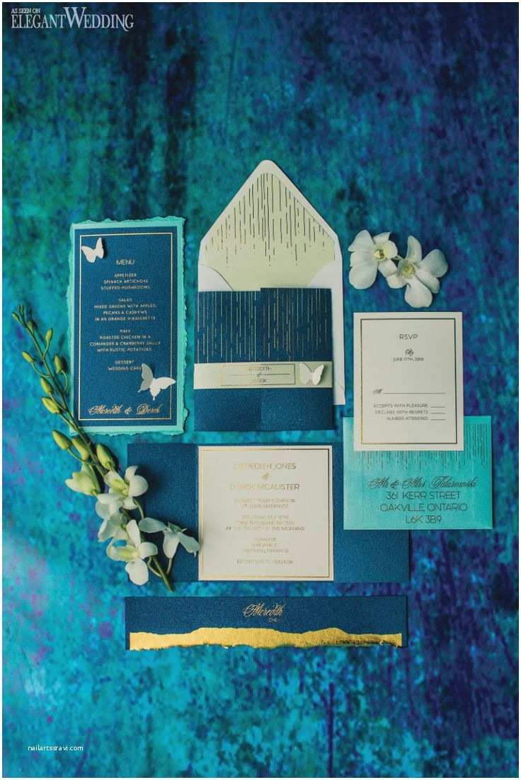 Sea themed Wedding Invitations butterfly Wedding Invitations and Stationery Mermaid