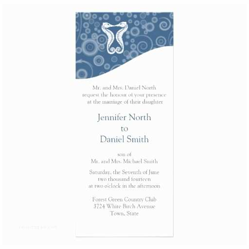 Sea themed Wedding Invitations Ocean theme Wedding Inviations Template 4x9 25 Paper