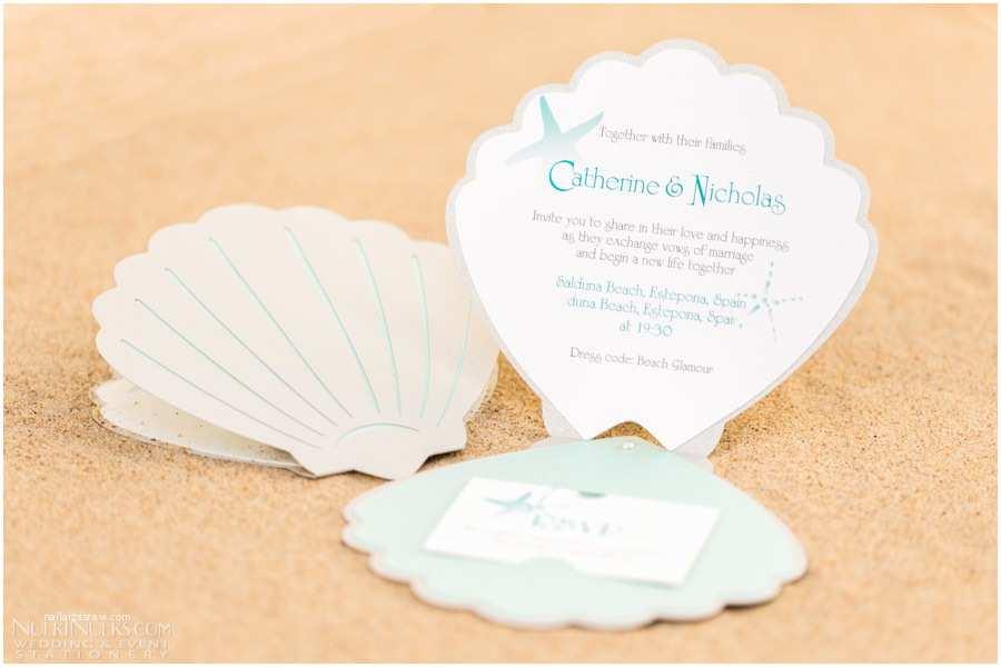 Sea themed Wedding Invitations Sea Shell themed Wedding Invitations and Accessories