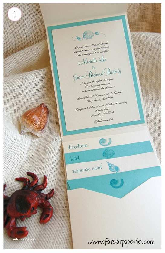 Sea themed Wedding Invitations Sea themed Invitations Fat Cat Paperie