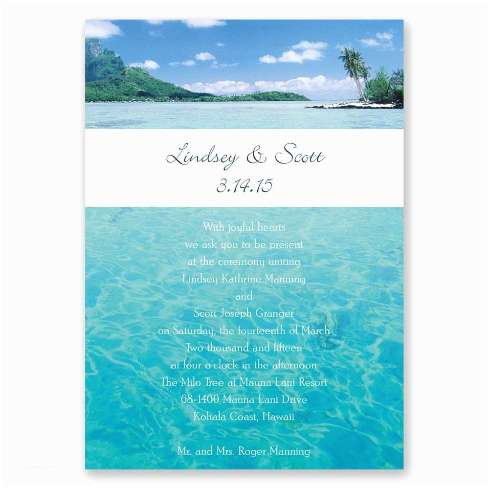 Sea themed Wedding Invitations Wedding Invitation Ocean theme